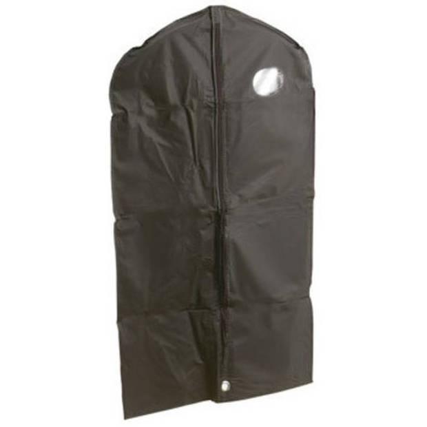 Zwarte kledinghoes 60 x 160 cm met venster - Kledinghoezen - Kleding opbergen accessoires