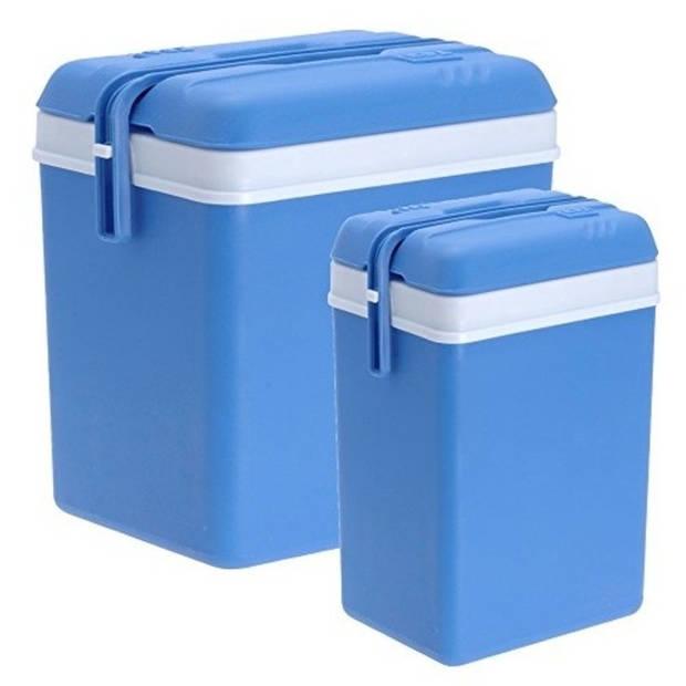 2x Koelboxen kunststof 15/35 liter - Koelboxen set 2 stuks
