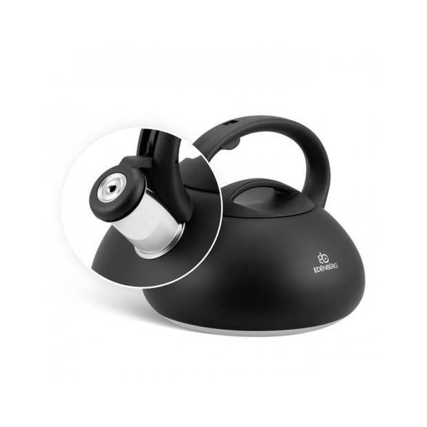 Edënbërg Black Line - RVS Fluitketel - 3.0 liter