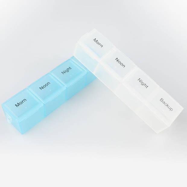 XL Pillendoos - Medicijn Box met 28 Vakjes voor 4 Dagdelen - Week