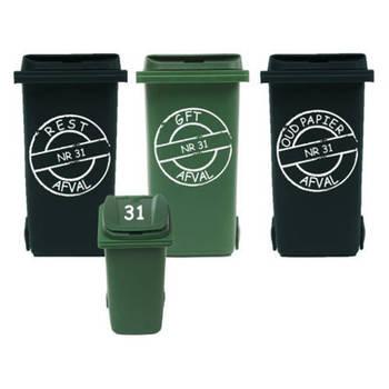 Korting Rosami Decoratiestickers Voordeelset 6x Sticker Kliko Container Rosami 1 Stuks Kleur Zie Omschrijving