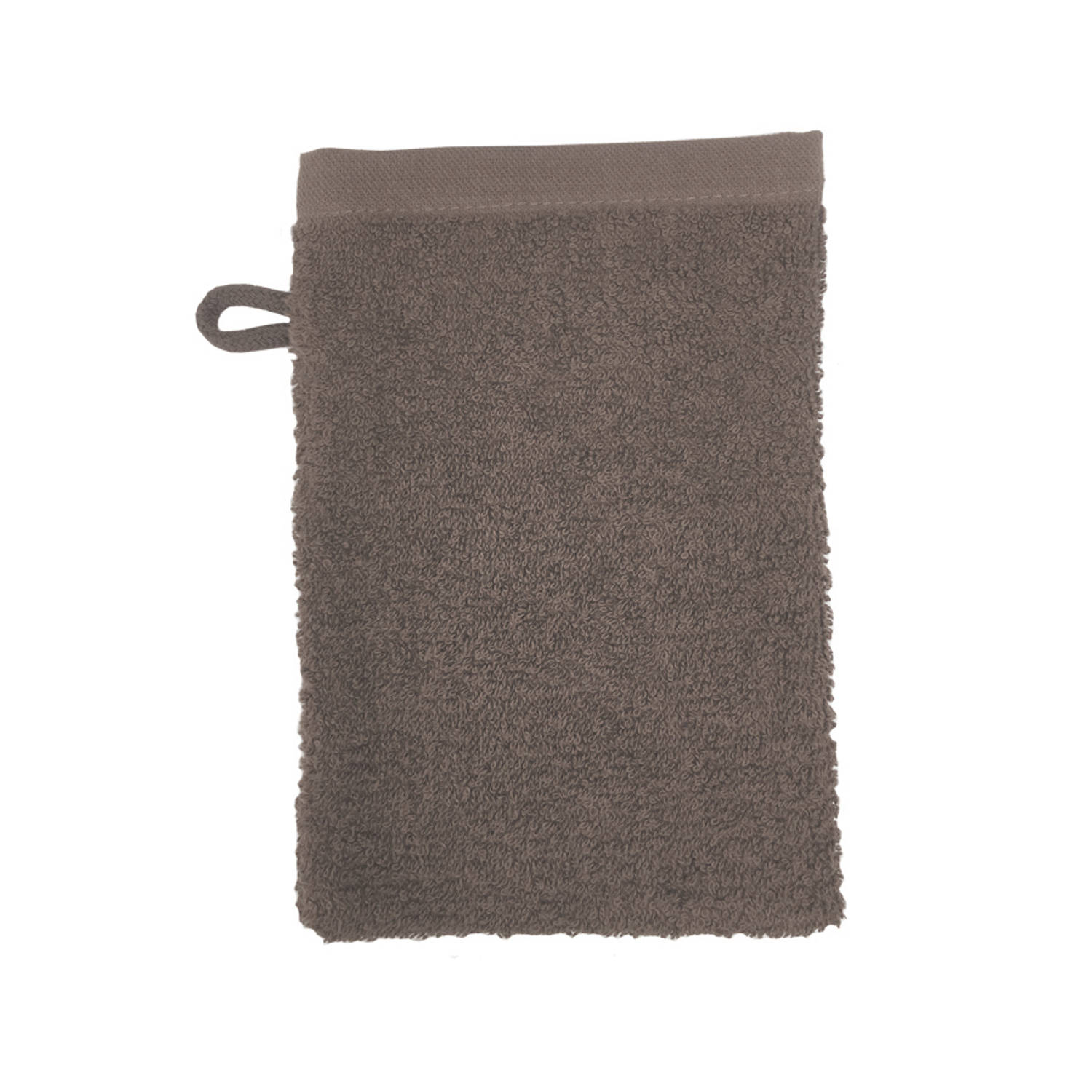Korting The One Towelling Washand 16 X 21 Cm Taupe