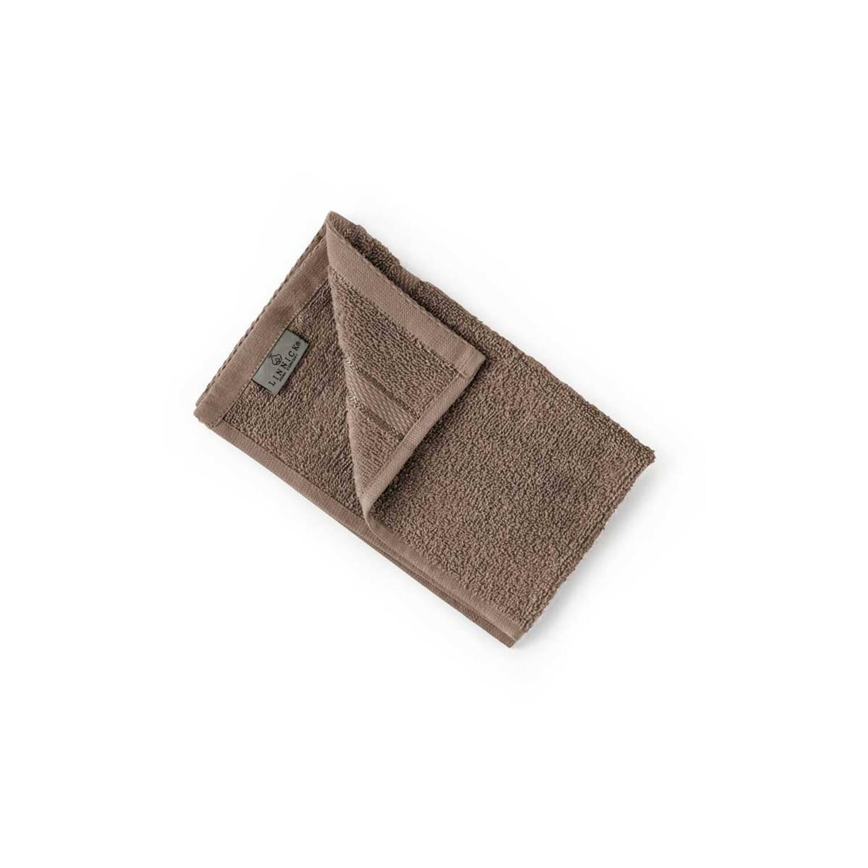 Korting Linnick Pure Gastendoek 30x50cm Taupe Set Van 4
