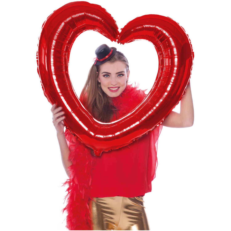 Feestbazaar Folieballon Hartvormige Fotolijst Rood online kopen