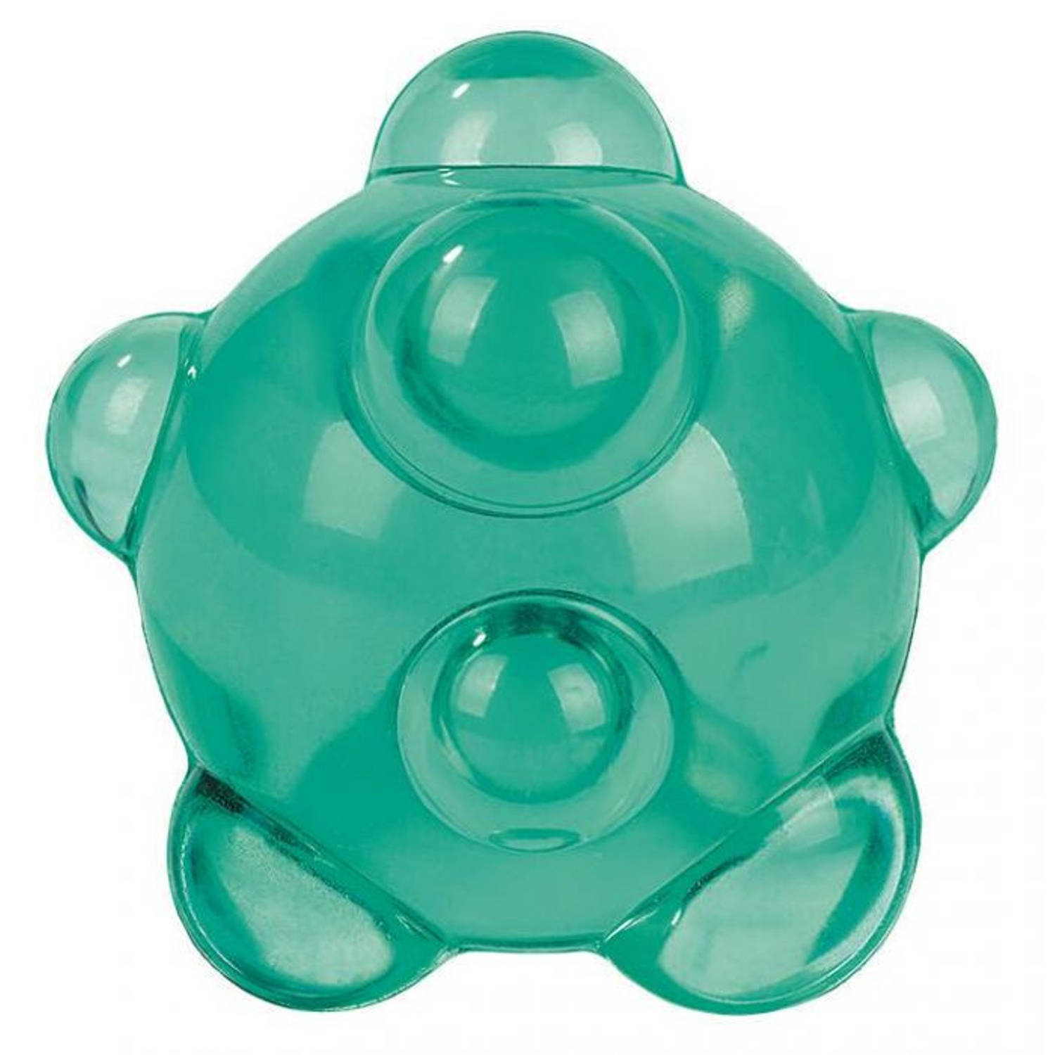 Korting Moses Stuiterbal Atoom 5 Cm Rubber Turquoise