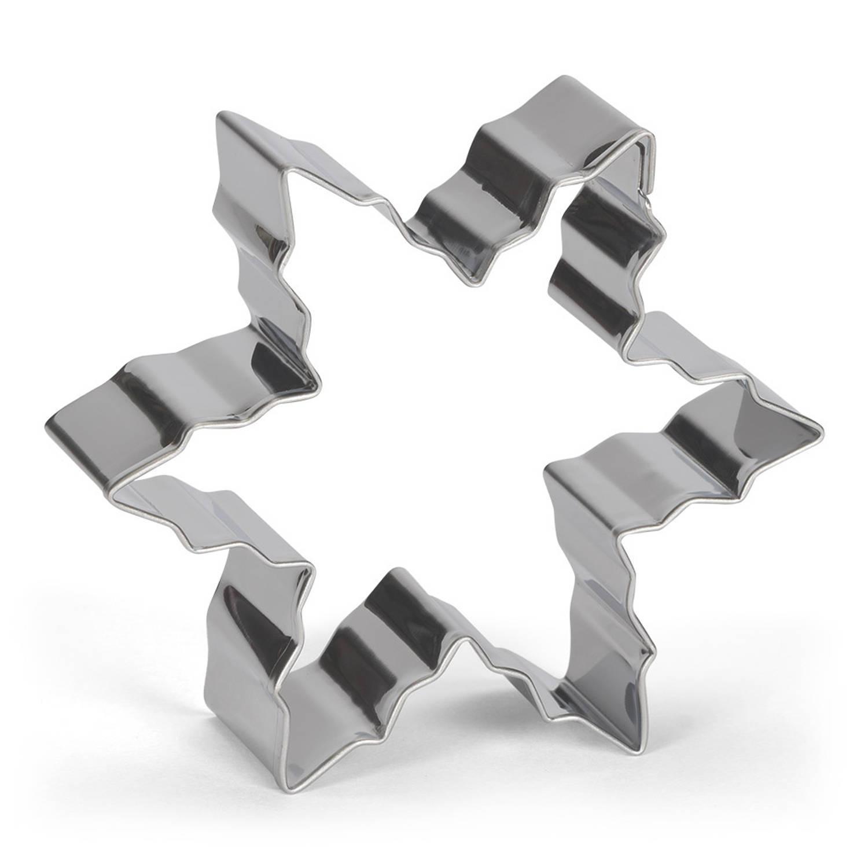 Korting Patisse Uitsteekvorm Sneeuwvlok 8 Cm Rvs Zilver