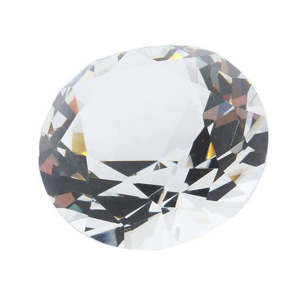 Melady Decoratie Kristal MLCR0002 Ø5 cm - Meerkleurig Glas Glazen