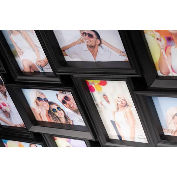 XL Fotolijst collage voor 28 Foto's van 10 x 15 en 15 x 10 Cm -