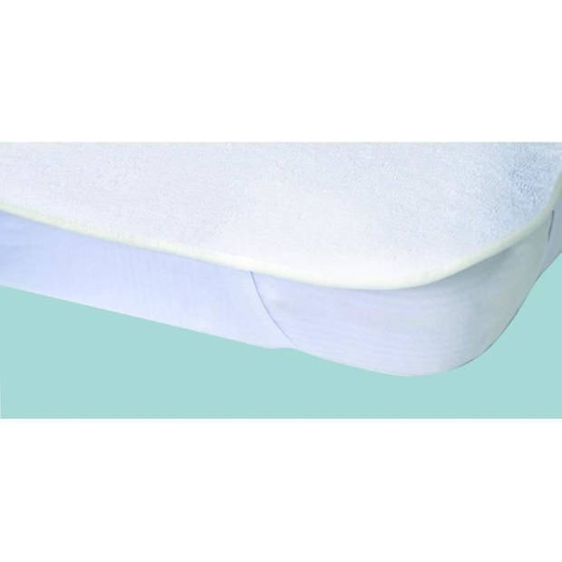 Alese waterdichte matrasbeschermer Elasretane badstof handdoek 100% katoen 140x190 cm wit