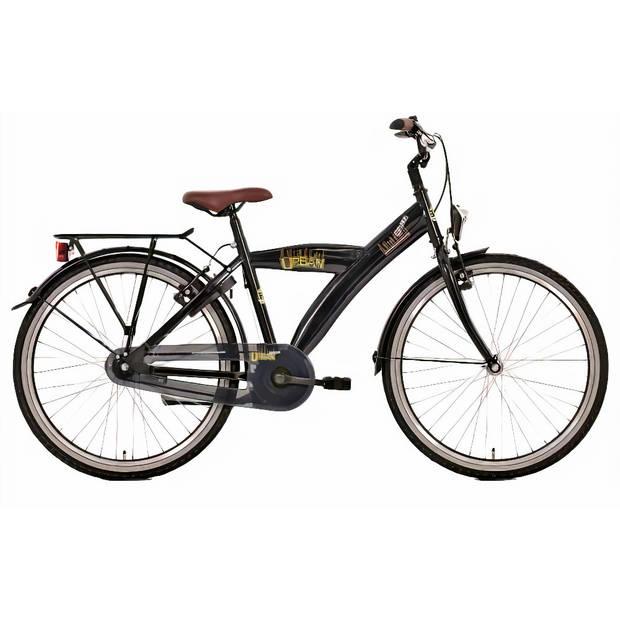 Bike Fun Urban Jongensfiets 24 Inch 39 cm Jongens 3V Terugtraprem Barok Zwart
