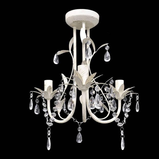 vidaXL Kroonluchters kristal 2 st elegant wit