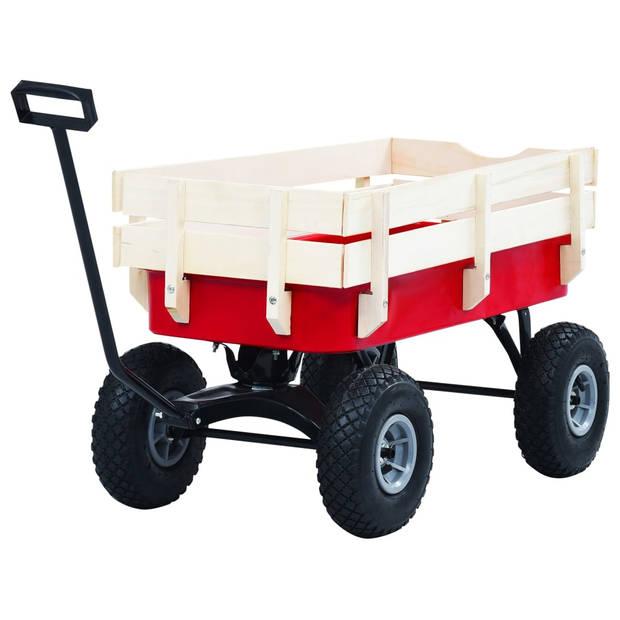 vidaXL Tuinwagen 150 kg rood