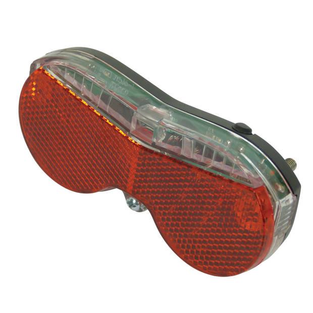 Dresco achterlicht met reflector Modern 3 led batterijen rood