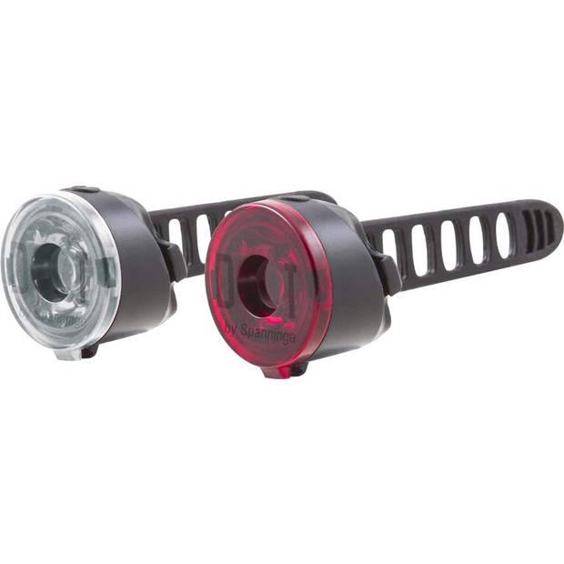 Spanninga verlichtingsset DOT XB led batterij wit/rood 2-delig