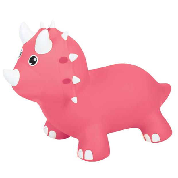 Gerardo's Toys skippydino Jumpy roze 26 cm