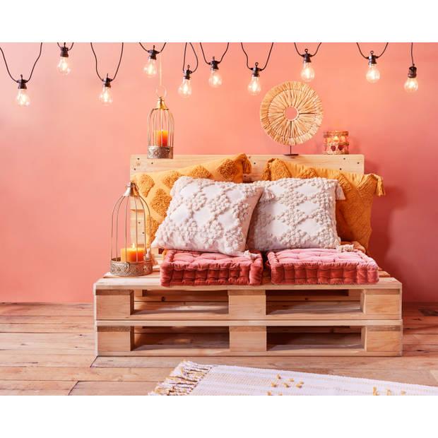 Blokker matraskussen Sevilla - roest - 40x40 cm