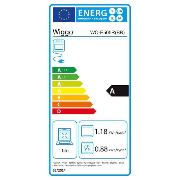 Wiggo WO-E505R(CX) - Gasfornuis 50cm - Serie 5 - Créme Rvs