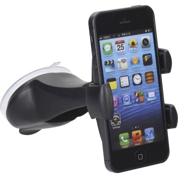 Richter smartphonehouder met zuignap universeel 58-84 mm zwart