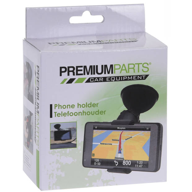 Premium Parts telefoonhouder voor auto 11 cm zwart