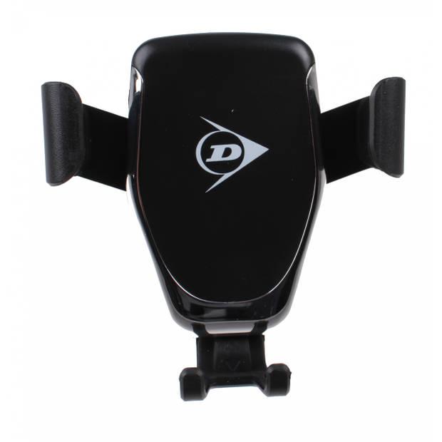 Dunlop telefoonhouder met draadloze oplaadfunctie 10 cm zwart