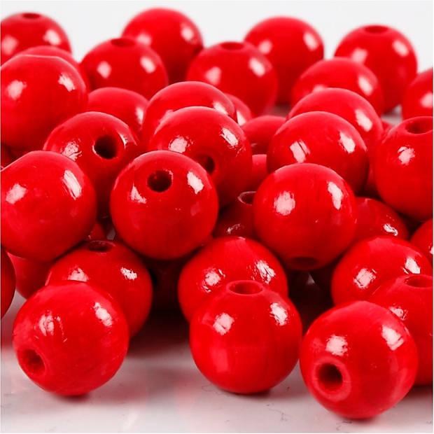 Creotime kralen 12 mm 40 stuks rood