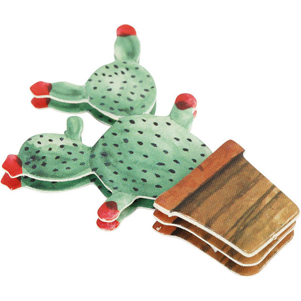 Creotime 3D stickers cactussen 45 x 15-26 x 7 mm 9 stuks