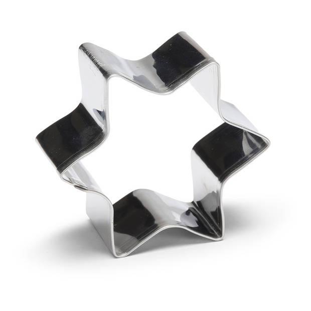 Patisse uitsteekvorm Ster 6 cm RVS zilver