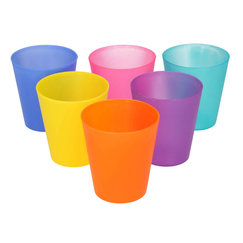 Korting Gekleurde Kinder Limonade Drinkbekers 200 Ml 6 Stuks