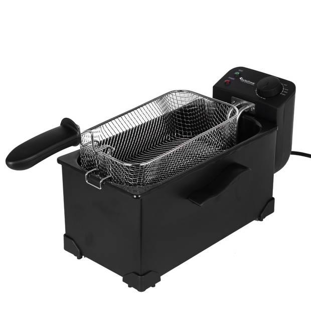TurboTronic DF1 Friteuse 3 liter - Frituurpan met venster