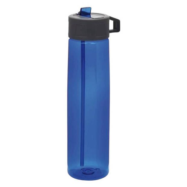XD Collection drinkfles met rietje 750 ml polypropyleen blauw