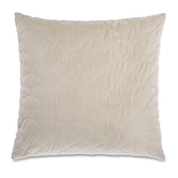 Blokker kussenhoes Hampton - beige - 45x45 cm