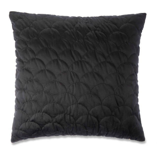 Blokker kussenhoes Hampton - zwart - 45x45 cm