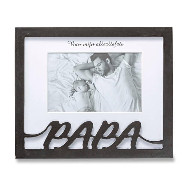 Blokker fotolijst Papa - zwart