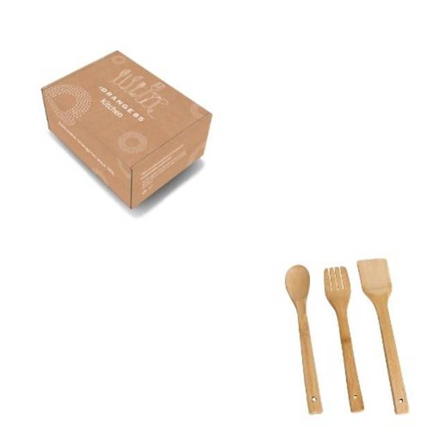 Orange85 Spatelset van 3 Bakspatels Keuken gerei Bamboe Hout
