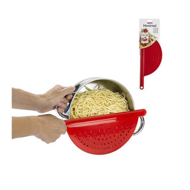 Kunststof keuken vergiethulp fuchsia 34 cm - Plastic vergieten keuken accessoires