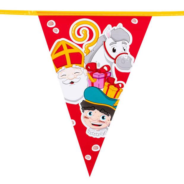 Sinterklaas vlaggenlijnen 6 meter - Feestartikelen - Feestversiering - Sint versiering - Vlaggenlijnen/slingers