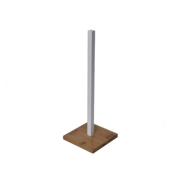 Gebor - Luxe Keukenrolhouder Bamboe - Keukenpapier Houder Hout – Foliehouder - Keukenrol Houder voor