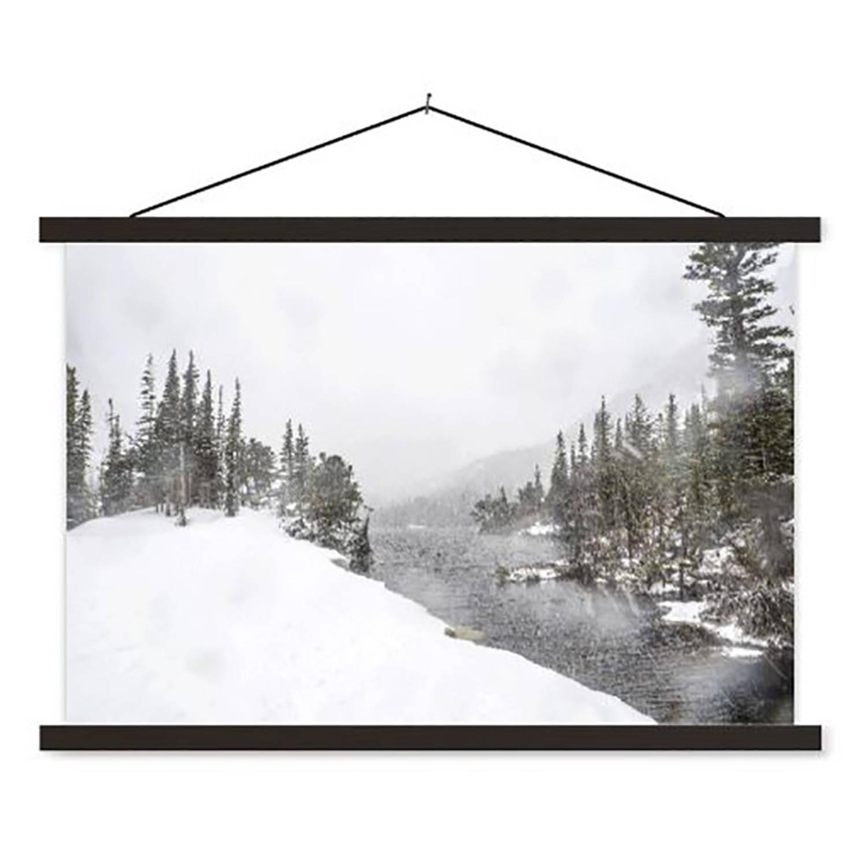 Schoolplaat Snowy Forest