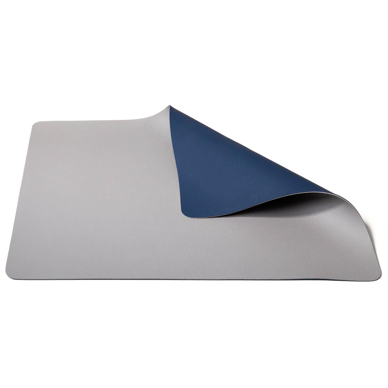 Korting Jay Hill Placemat Leer Lichtgrijs Blauw 33 X 46 Cm