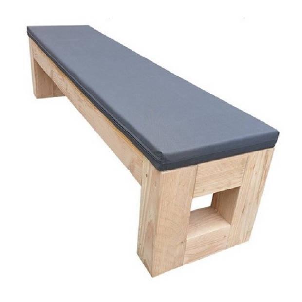 Wood4you - Tuinbank kussen - Antraciet - 190L/38B/6H cm
