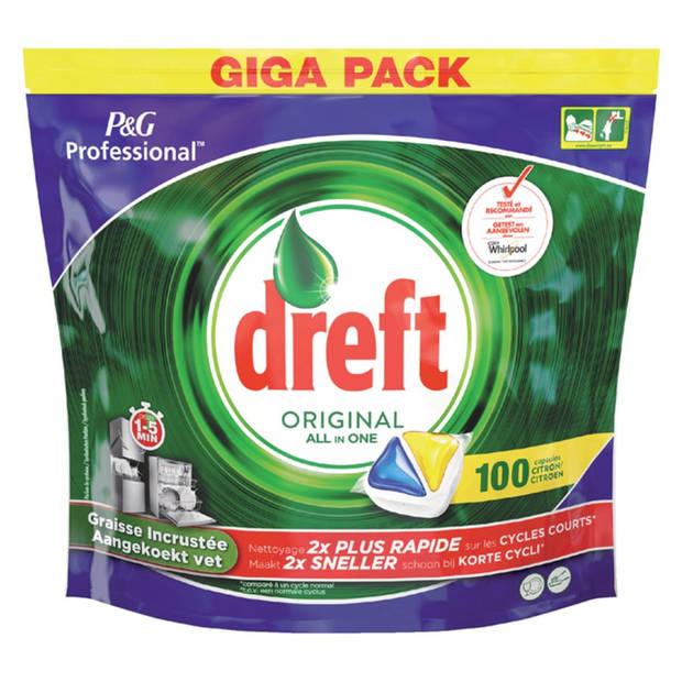 DREFT All-in One Vaatwastabletten Lemon - 100 tabs