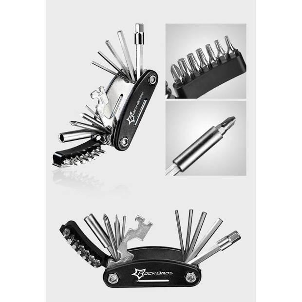 Multitool Fiets reparatie toolkit 16-delig - Voor Racefiets -