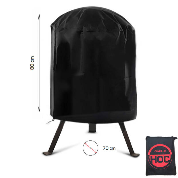 CUHOC RED BBQ hoes rond - 70x80 cm - Barbecue hoes - afdekhoes ronde bbq