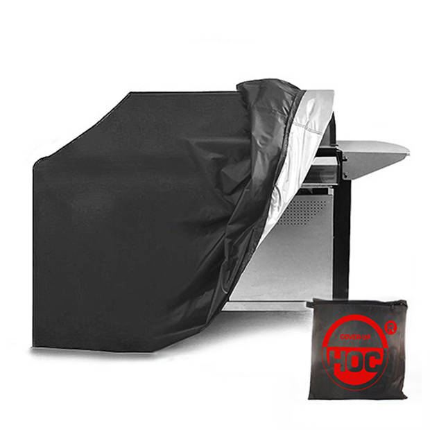 CUHOC RED BBQ hoes 170x61x117 cm Barbecue hoes/ afdekhoes bbq / met trekkoord