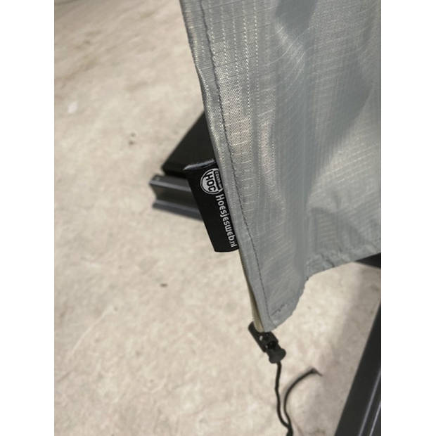 Diamond topkwaliteit parasolhoes staande parasol- 220x25x45 cm - met Rits, Stok en Trekkoord incl. Stopper- Zilvergrijze