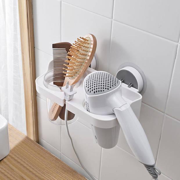 Hangende Föhnhouder met zuignap zonder te boren - Haardrogerhouder -