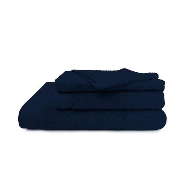The One Towelling Badhanddoek 100% organisch katoen 70 x 140 cm Navy Blauw