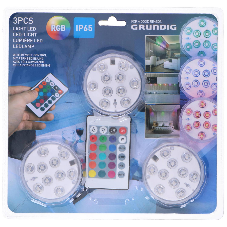 Grundig LED lampset + afstandsbediening