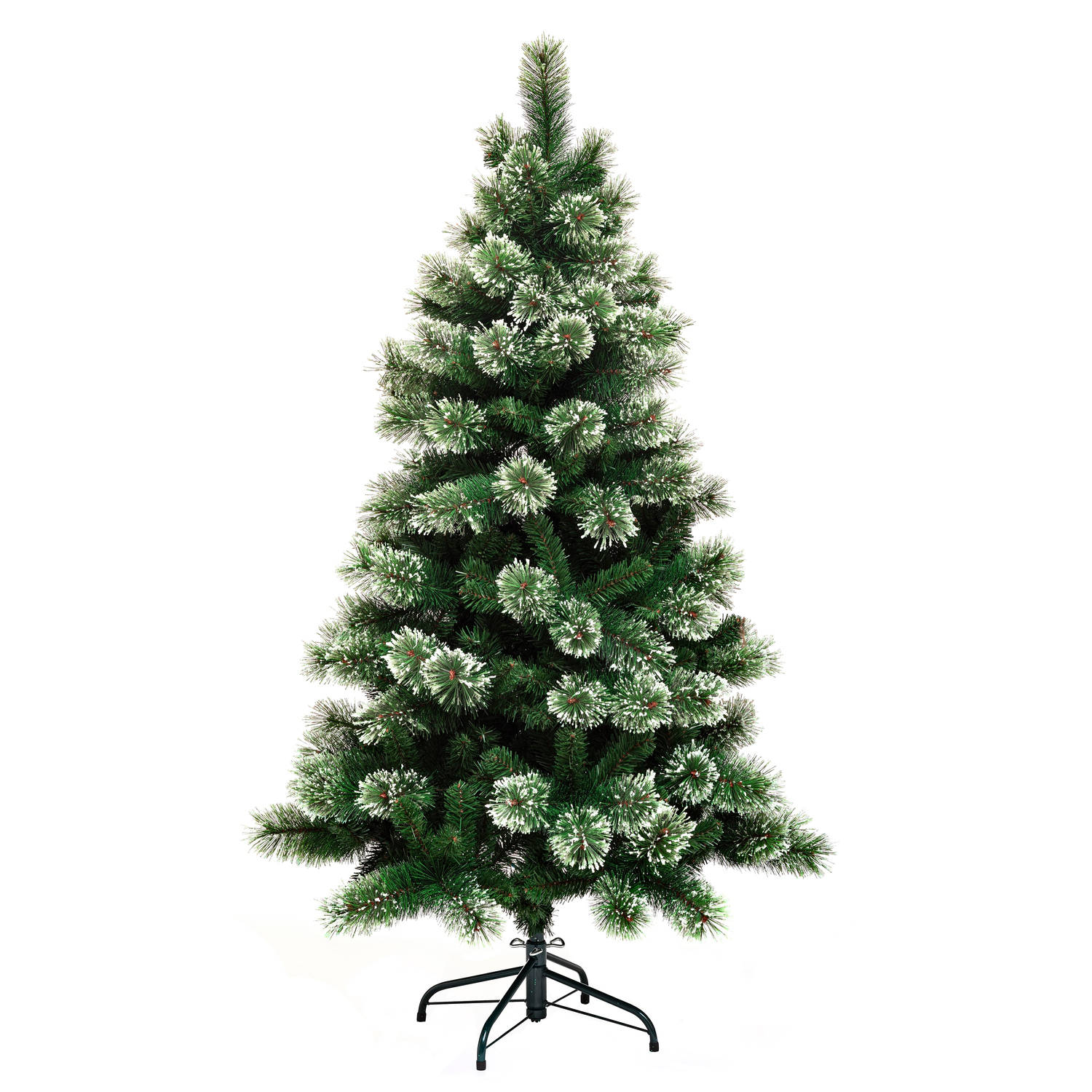 4Goodz kunstkerstboom Gracious Frosted Pine 150 cm Groen-Wit