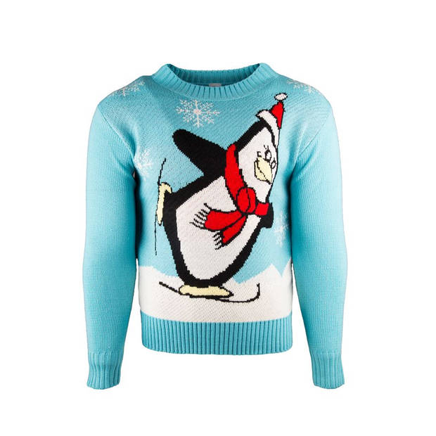 JAP Foute kersttrui - Noordpool Pinguin voor kinderen - 4 - 8 jaar